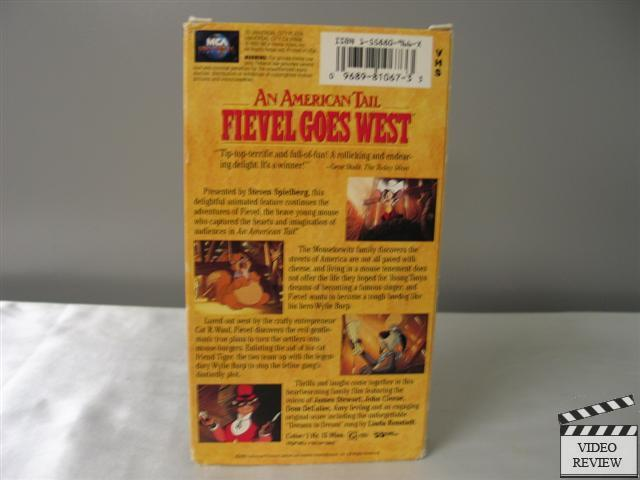 An American Tail Fievel Goes West Vhs Dom Deluise James
