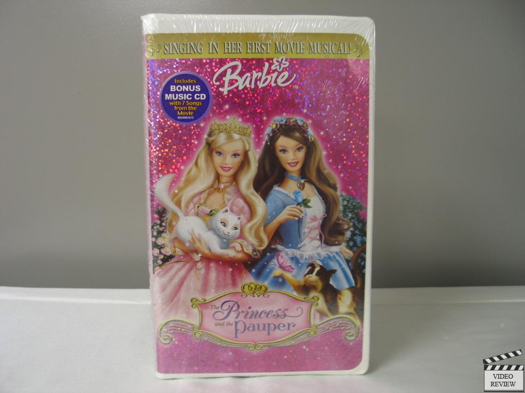 Barbie As The Princess And The Pauper Vhs Clamshell New