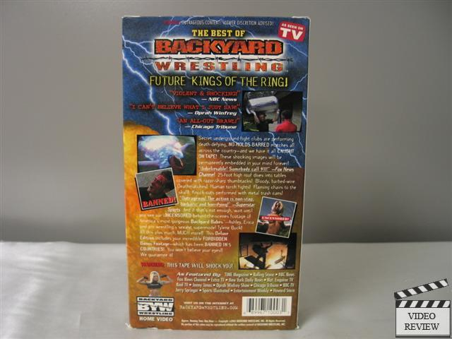Backyard Wrestling, The Best of (Deluxe Edition) VHS ...