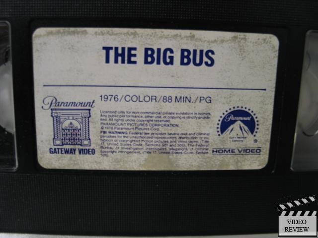 The Big Bus Vhs Joseph Bologna Stockard Channing John