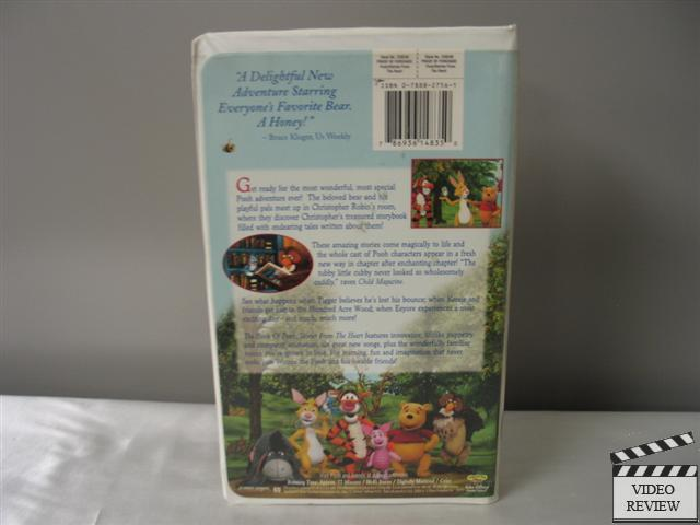 The Book Of Pooh Stories From The Heart Vhs 2001 Ebay