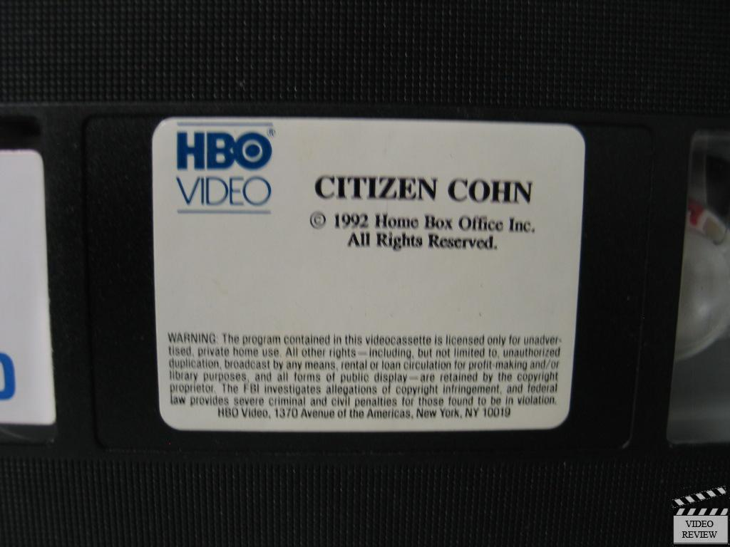 Citizen Cohn Vhs James Woods Joe Don Baker Joseph