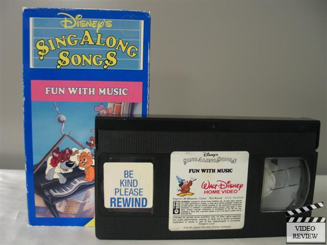 disney 39 s sing along songs fun with music vhs ebay. Black Bedroom Furniture Sets. Home Design Ideas