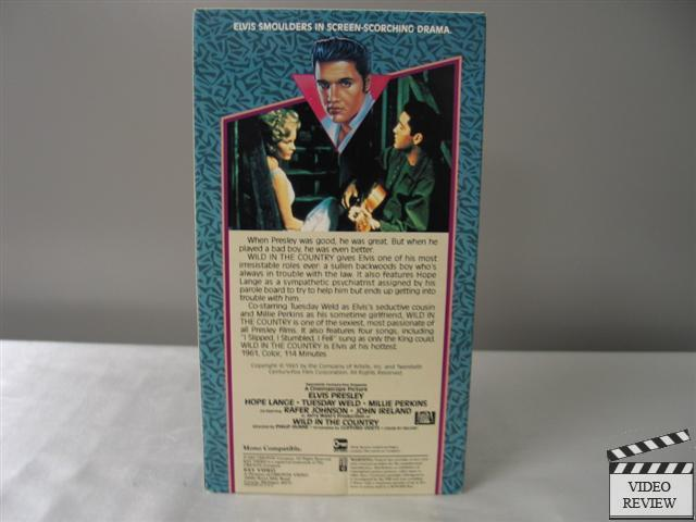 Wild in the Country VHS Elvis Presley, Hope Lange, Tuesday ...