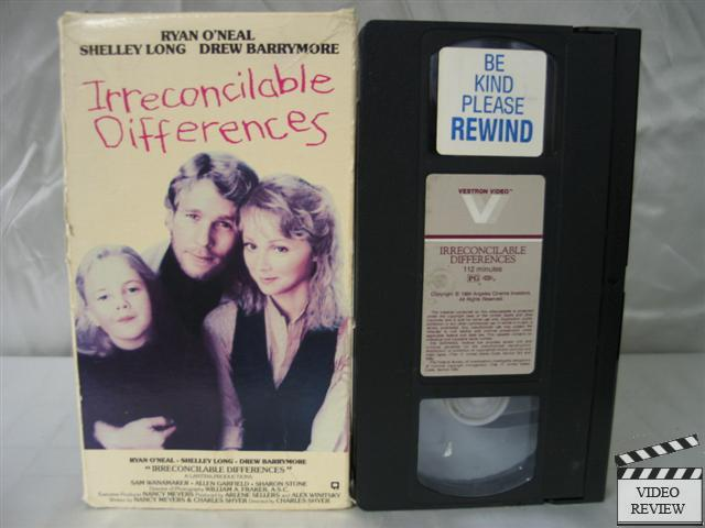 Irreconcilable Differences Vhs Ryan O Neal Shelley Long