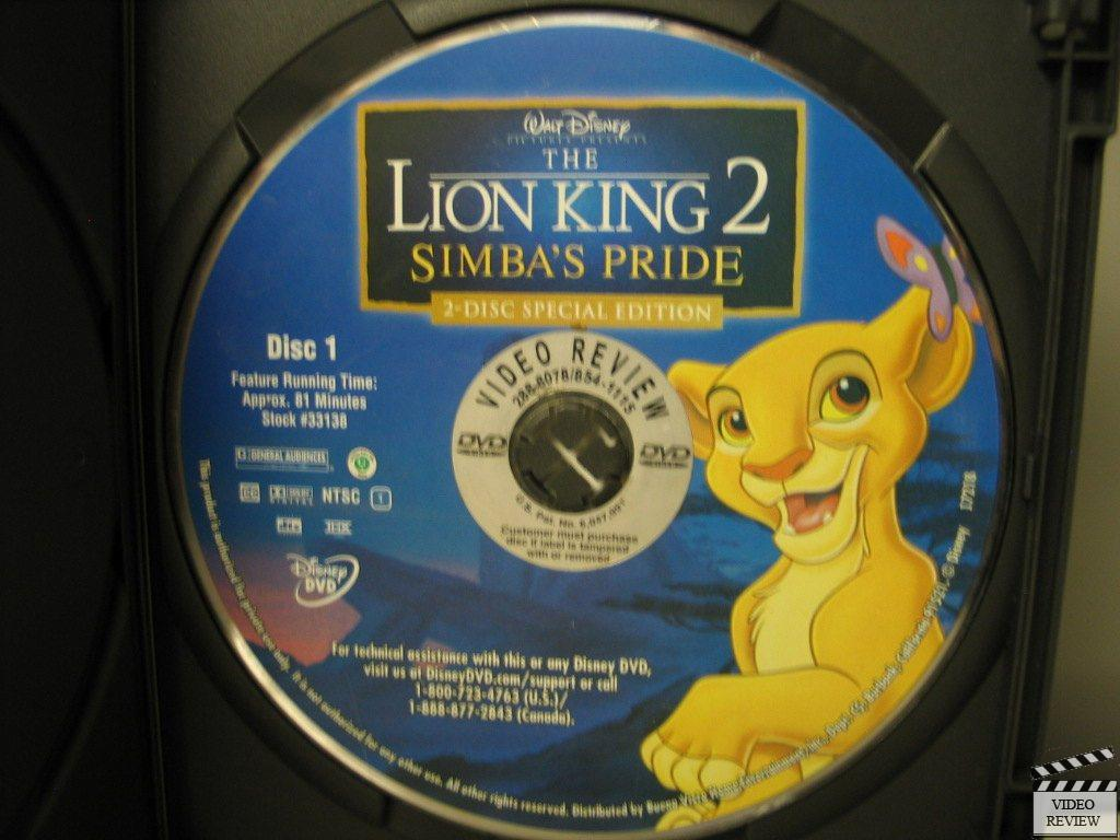 The Lion King 2: Simba's Pride - Special Edition (DVD ...