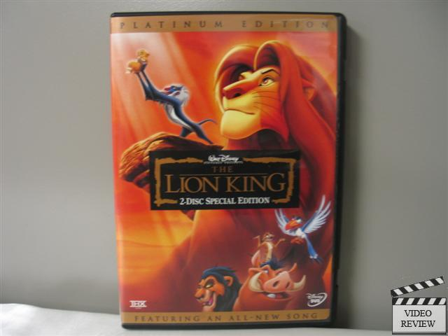 the lion king dvd 2003 2 disc set platinum edition features an all new s