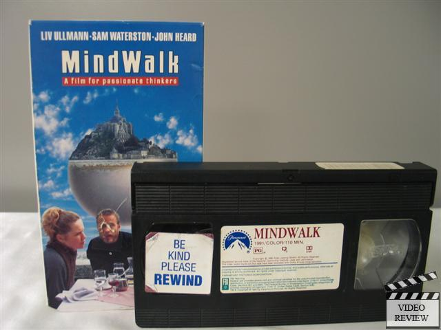 film review mindwalk Mindwalk 1990 dvd (region 1) color full frame sam waterston, liv ullmann, john hearda film for passionate thinkersmovie based on ideas from fritjof capra's book entitled 'the turning point'a us politician visits his poet friend in mont st michael, france.