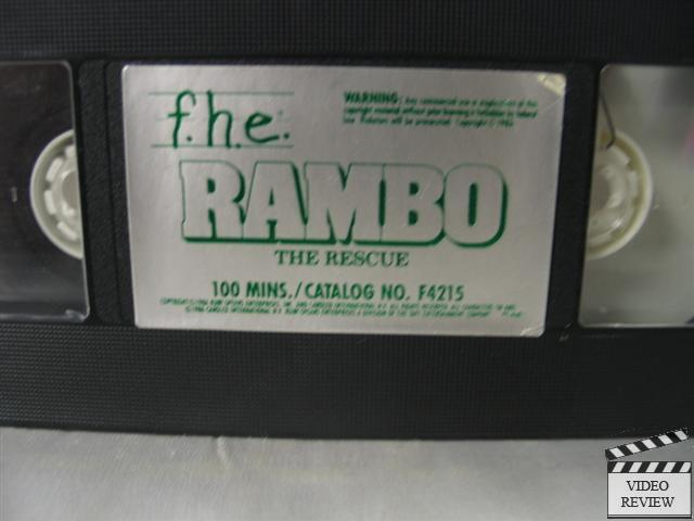 Rambo The Rescue Vhs Rambo Cartoon Series Ebay