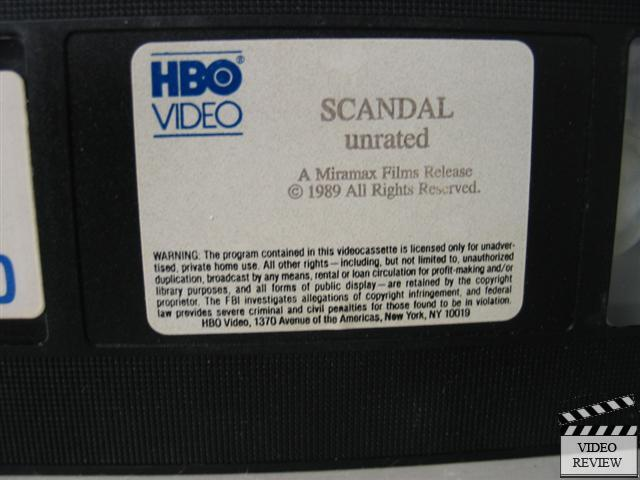 Scandal Unrated Vhs John Hurt Ian Mckellen Bridget