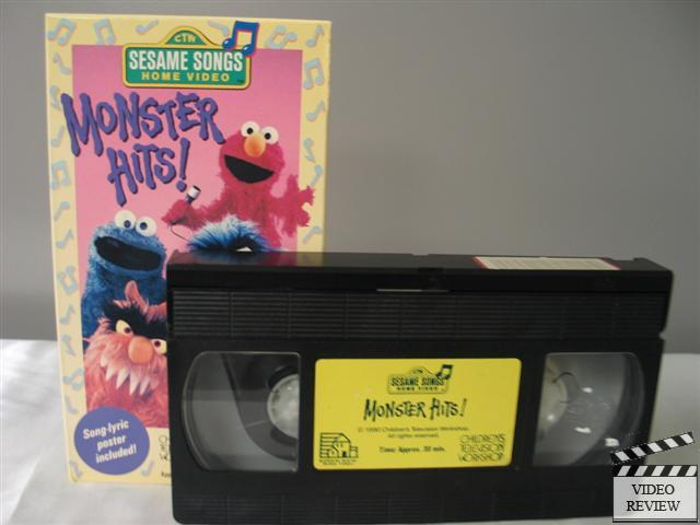 Sesame songs monster hits vhs sesame street ebay for House music 1990 songs
