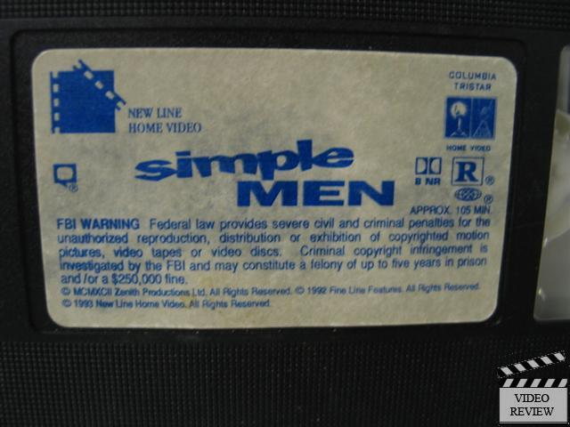 Simple Men Vhs Robert Burke Karen Sillas Hal Hartley Ebay