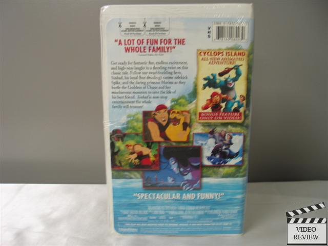Sinbad: Legend of the Seven Seas VHS (Clamshell) NEW Brad ...