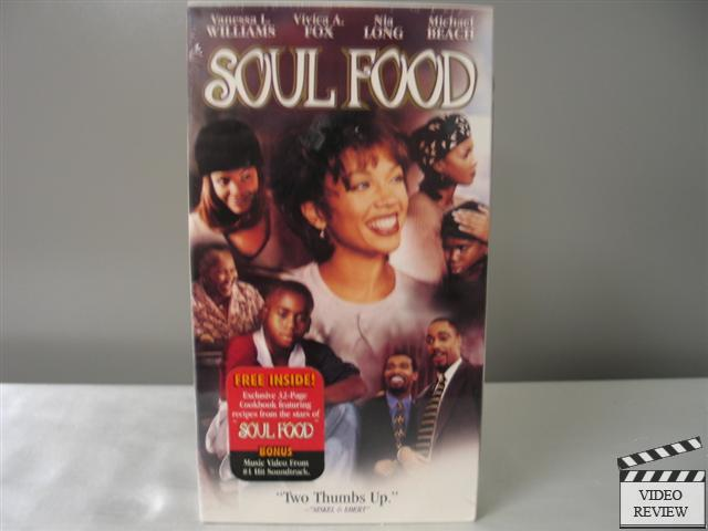 Soul Food Vhs New Includes Cookbook Booklet Vanessa L