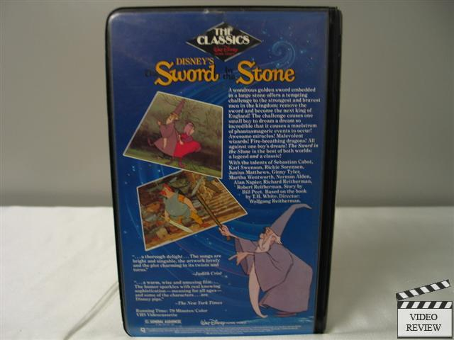 The Sword in the Stone VHS (Clamshell) Walt Disney Home ...
