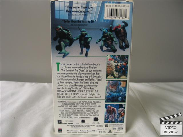 Teenage Mutant Ninja Turtles 2 Secret Of The Ooze Vhs