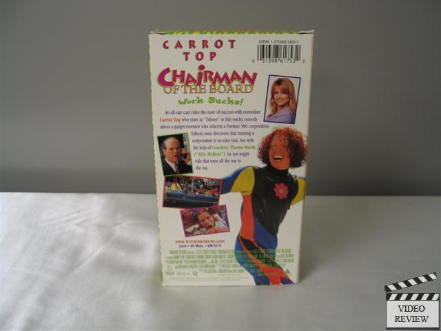 Chairman of the Board VHS 1998 Carrot Top Courtney Thorne Smith