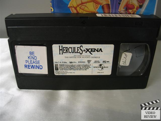 Hercules And Xena The Battle For Mount Olympus Vhs