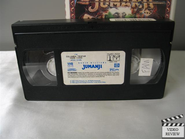 Jumanji Vhs 1996 Closed Captioned Clam Shell Case