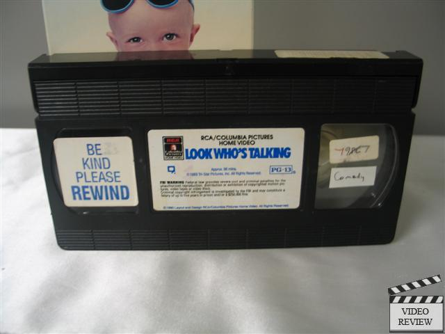 Look Who S Talking Vhs 1992 John Travolta Kirstie Alley