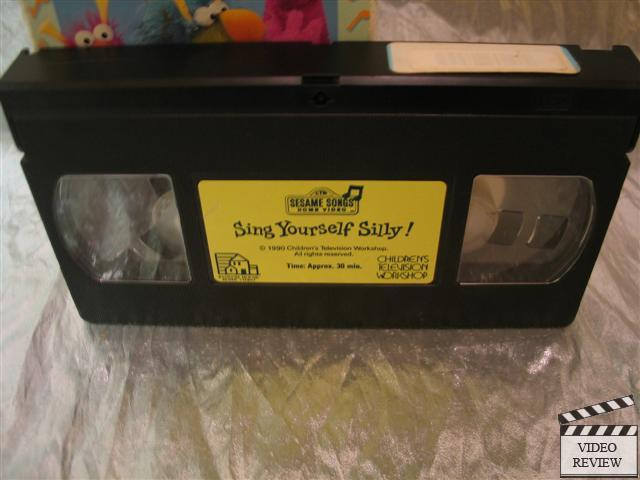 Sesame Street Sing Yourself Silly Vhs 1990