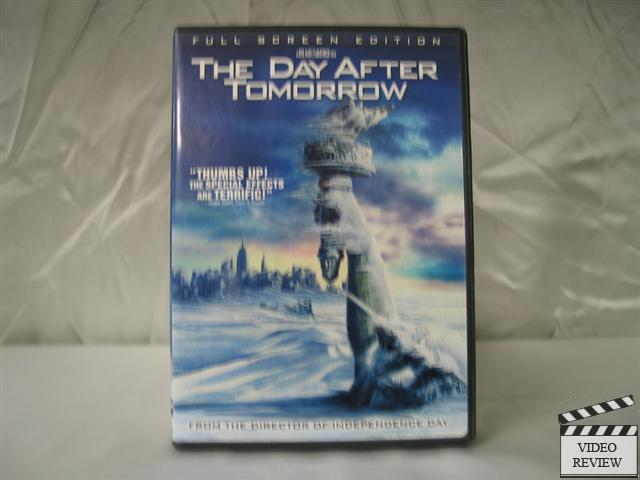 movie review the day after tomorrow He day after tomorrow, a two-hour $125 million disaster — excuse me, i mean disaster movie — that opens nationwide on friday, proposes an apocalypse that covers the northern hemisphere in a sheet of ice and snow.